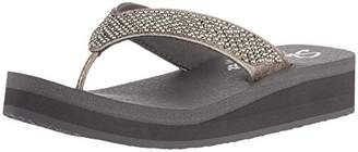 Skechers Women's Vinyasa-Beach League-Pearl/Rhinestone Flip-Flop