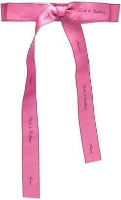 Dolce & Gabbana Amore bow belt