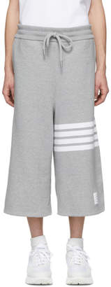 Thom Browne Grey Oversized 4-Bar Sweat Shorts