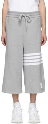 Thom Browne Grey Oversized 4-Bar Sweat Shorts