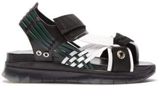30b09a0cf4b Toga Tri Colour Velcro Strap Sandals - Womens - Black Multi