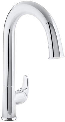 """Kohler Sensate Touchless Kitchen Faucet with 15-1/2"""" Pull-Down Spout, Docknetik Magnetic Docking System, ProMotion?, MasterClean? and A 2-Function Sprayhead Featuring The New Sweep Spray"""