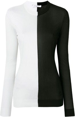 Givenchy bicolour knit sweater