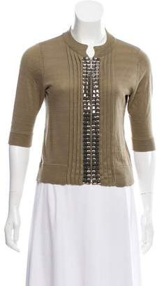 Magaschoni Embellished Knit Top