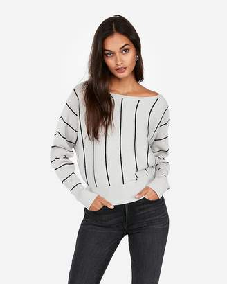 Express Striped Dolman Sleeve Sweater