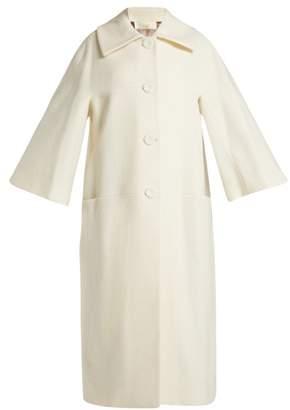 Sara Battaglia Wool Blend Coat - Womens - Cream