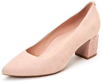 Taryn Rose Marigold 60mm Rose-Heel Suede Pumps