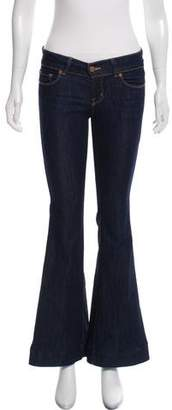 J Brand Low-Rise Flare Jeans