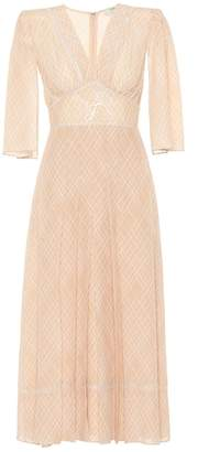 Fendi Silk crêpe midi dress