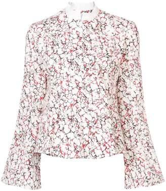 Rosie Assoulin printed peplum shirt