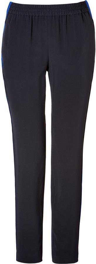 Marc by Marc Jacobs Silk Pants in General Navy Multi