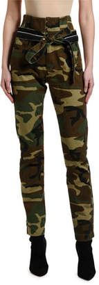 Unravel Camo High-Rise Skinny Corset Jeans