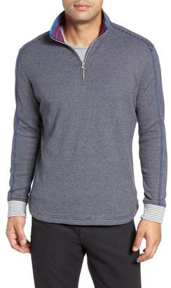 Robert Graham Kitson Classic Fit Stripe Quarter Zip Sweater