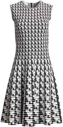 Akris Punto Soundboard Print Flounce Dress