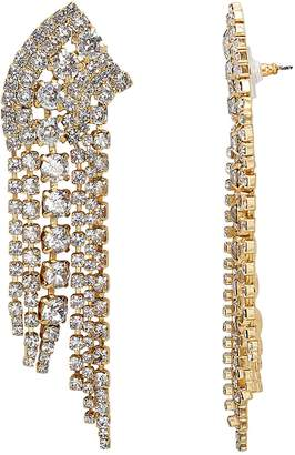 Elizabeth Cole Fringed Crystal Earrings