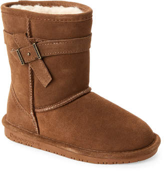 BearPaw Kids Girls) Hickory Val Real Fur Boots