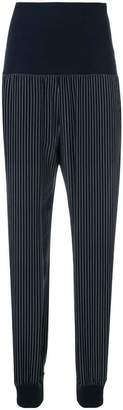 Theory striped tapered trousers
