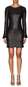 Cynthia Rowley WOMEN'S SEQUINED LONG-SLEEVE DRESS-BLACK SIZE 10
