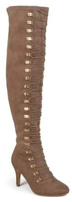 094192d0b98 Women s Wide Calf Vintage Almond Toe Over-the-knee Boots