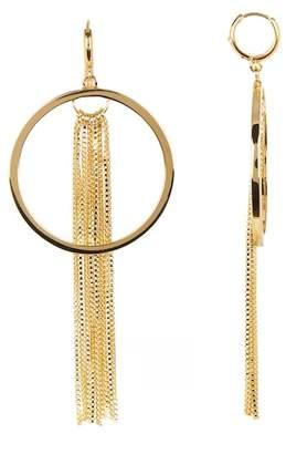 Vince Camuto Tassel Fringe Huggie Hoop Earrings