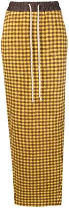 Rick Owens gingham check pencil skirt