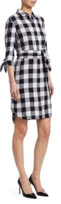 Saks Fifth Avenue Collection Checked Shirt Dress