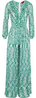 Missoni Ruffle-Trimmed Crochet-Knit Jumpsuit