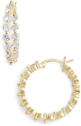 Nina Medium Cubic Zirconia Hoop Earrings