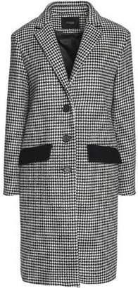 Maje Houndstooth Wool-Blend Coat