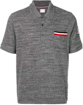Moncler chest pocket polo shirt