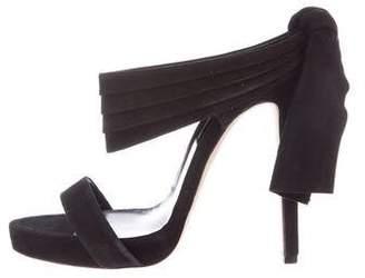 Oscar de la Renta Suede Slide Sandals
