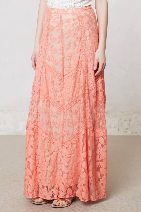 Anthropologie Georgia Maxi Skirt