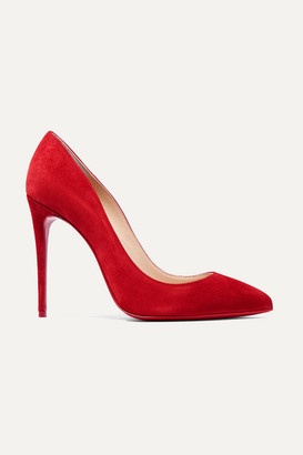 afe7e844c9dd Christian Louboutin Pigalle Follies 100 Suede Pumps - Red