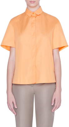 Akris Punto Ruffle Detail Short Sleeve Shirt