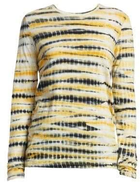 Proenza Schouler Long-Sleeve Tie Dye Tissue Jersey Tee