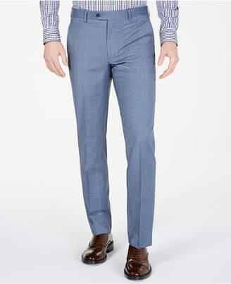 d3b42356d08a4 Michael Kors Men s Classic-Fit Airsoft Stretch Light Blue Windowpane Suit  Pants