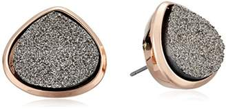 Kenneth Cole New York Supercharged Collection Women's Black Druzy Stud Earrings