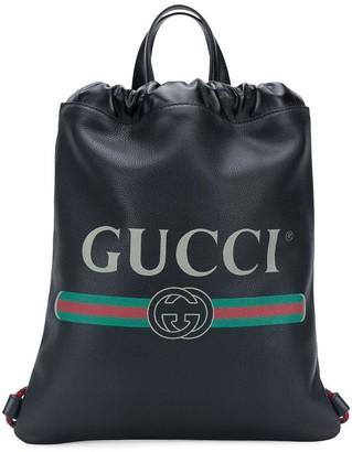 Gucci logo drawstring backpack