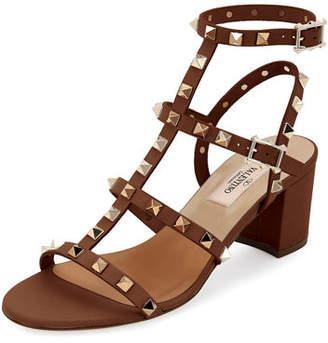 Valentino Rockstud Leather 60mm City Sandals