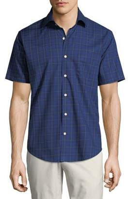 Peter Millar Men's Crown Ease Rhine Valley Tartan Short-Sleeve Sport Shirt