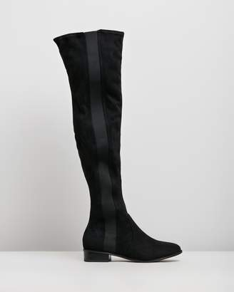 Missguided Chelsea Flat Over-the-Knee Boots