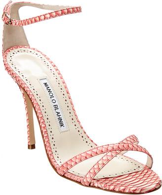 Manolo Blahnik Paloma 105 Snakeskin Sandal
