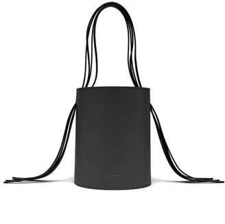 6835821e64b0 Mansur Gavriel Fringe Red Lined Leather Bucket Bag - Womens - Black