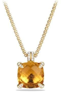 David Yurman Châtelaine® Pendant Necklace With Citrine And Diamonds