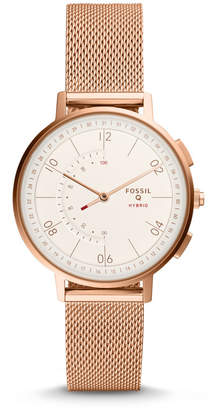 Fossil Hybrid Smartwatch - Q Harper Rose Gold-Tone Stainless Steel