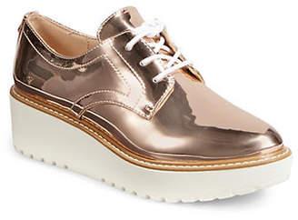 DKNY Metallic Round Toe Platform Sneakers