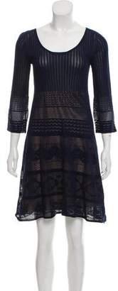 Philosophy di Alberta Ferretti Long Sleeve Knit Dress