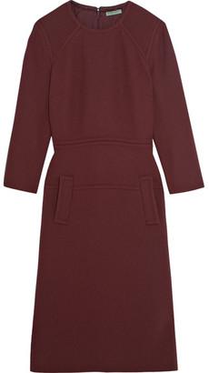 Bottega Veneta - Wool-crepe Dress - Merlot $2,550 thestylecure.com