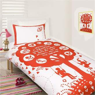 Bees Knees Happy Kids Quilt Cover Set, Areaware Dock Red Single
