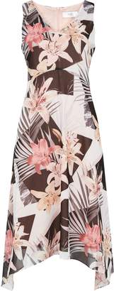 WallisWallis PETITE Blush Floral Print Midi Dress